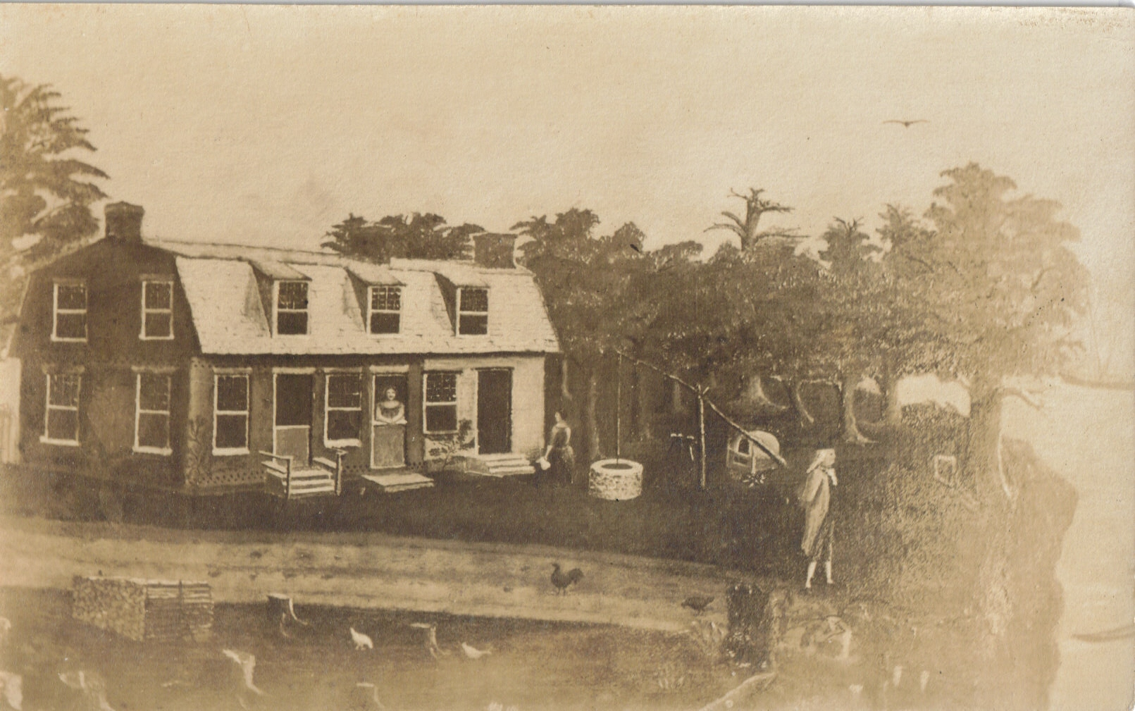 Postcard of John Fenwick's Home along Salem Creek