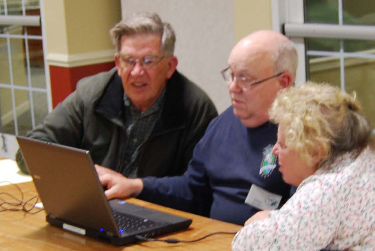 Members search the internet for ancestors